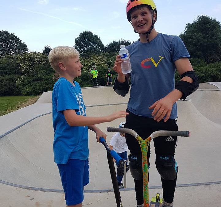 Scoot, skate and BMX at Hardie skate park