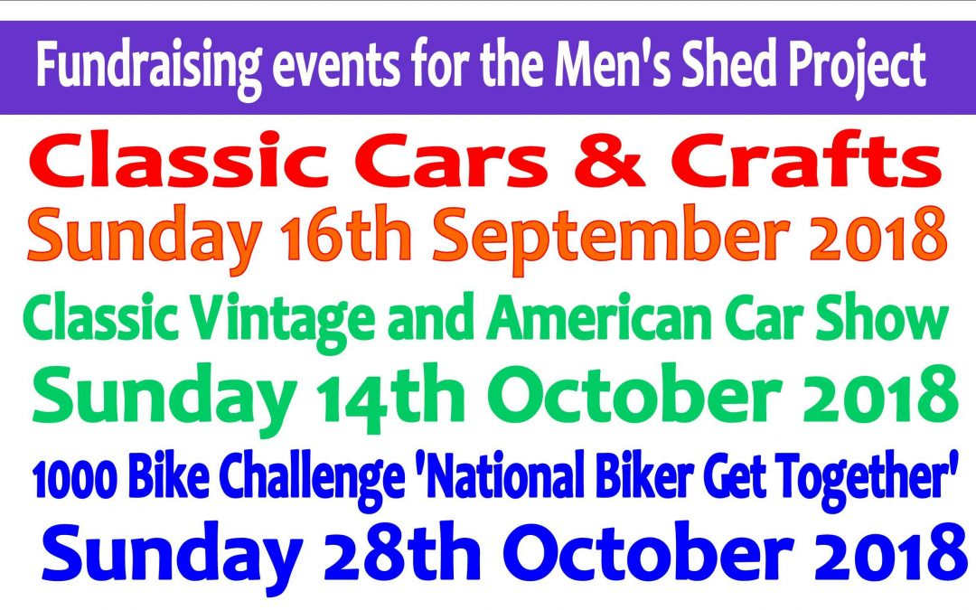 Men's Shed fundraiser events