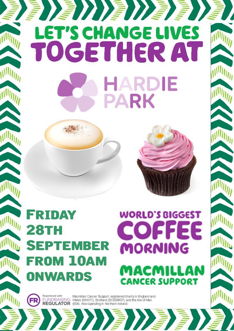 Macmillan Coffee Morning Friends Of Hardie Park