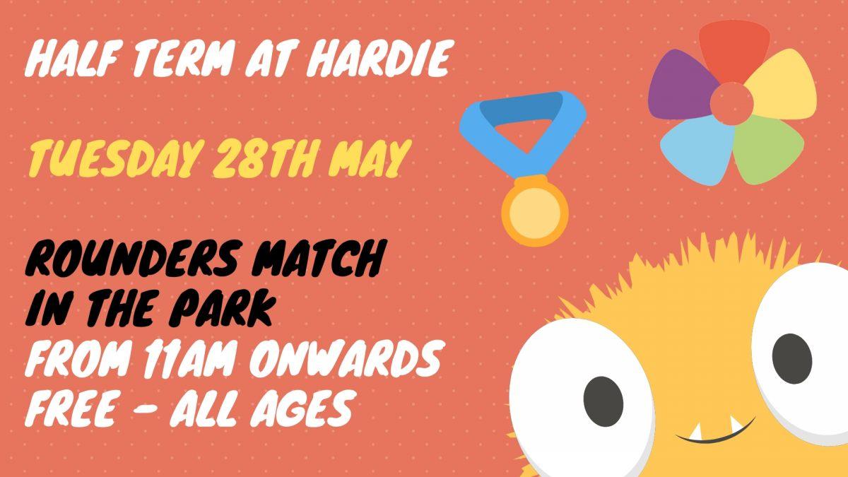 Rounders in the Park – HALF TERM FUN   Friends of Hardie Park